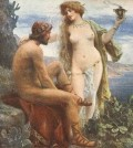 Jan Styka -Goddess Calypso promises immortality to Odysseus